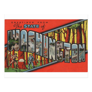 Greetings From Washington Postcard