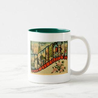 Greetings From Washington WA Mug