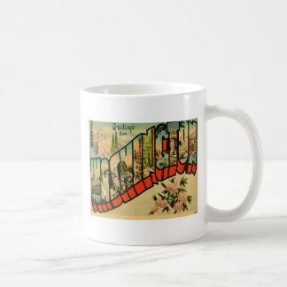 Greetings From Washington WA Coffee Mugs