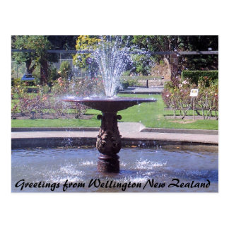 Greetings from Wellington New Zealand Postcard