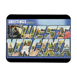 Greetings from West Virginia_Vintage Travel Poster Rectangular Photo Magnet