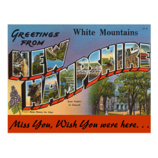 Greetings from White Mountains Postcard