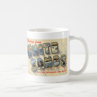 Greetings from White Sands NM Vintage Postcard Mug