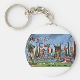 Greetings From Wisconsin Key Ring