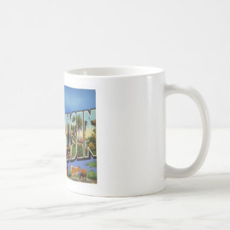 Greetings From Wisconsin WI USA Mugs