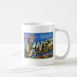 Greetings From Wisconsin WI USA Coffee Mugs