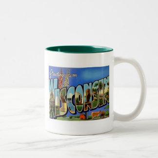 Greetings From Wisconsin WI USA Coffee Mug