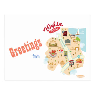 Greetings from Wylie Texas Postcard