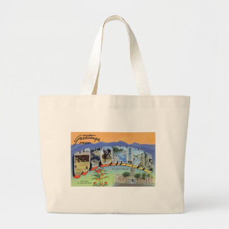 Greetings From Wyoming Large Tote Bag
