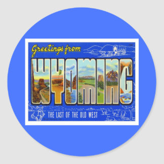 Greetings From Wyoming WY USA Sticker