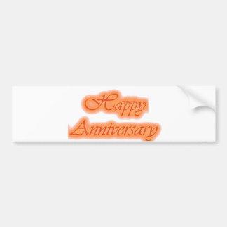 Greetings : HappyANNIVERSARY Happy Anniversary Bumper Stickers