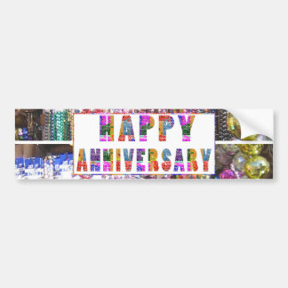 Greetings : HappyANNIVERSARY Happy Anniversary Bumper Sticker
