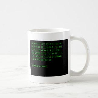 Greetings mortal. coffee mug