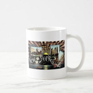 Greetings New York, Vintage Coffee Mug