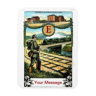 Greetings of the Royal Bavarian Rail Battalion Rectangular Photo Magnet