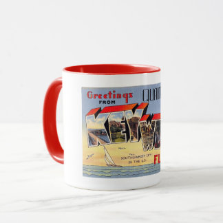 Greetings, Quaint Key West, Florida Vintage Mug