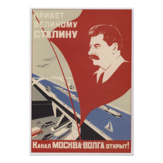 Greetings to the Great Stalin Poster