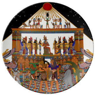 GREETINGS TUTANKHAMUN PLATE