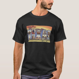 Greetins from Texas Large Letter vintage theme T-Shirt