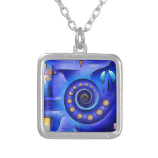 Grefenissa V1 - space art Silver Plated Necklace