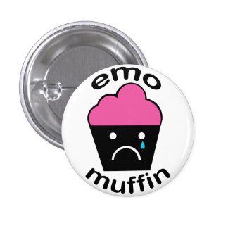 Greg the Emo Muffin 3 Cm Round Badge