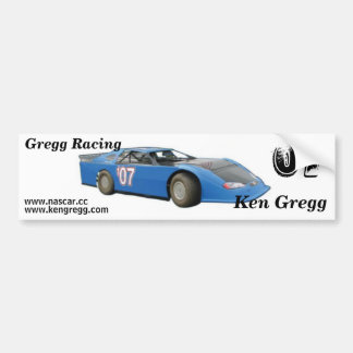 Gregg Racing bumper sticker
