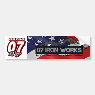Gregg Racing by 07 Iron Works Bumper Sticker