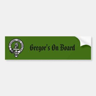 Gregor Badge, Gregor's On Board Bumper Sticker