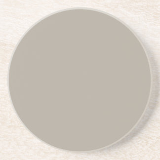 Greige Solid Color Customize It Coaster