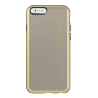 Greige Solid Color Customize It Incipio Feather® Shine iPhone 6 Case