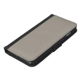 Greige Solid Color Customize It iPhone 6/6s Plus Wallet Case