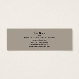 Greige Solid Color Customize It Mini Business Card