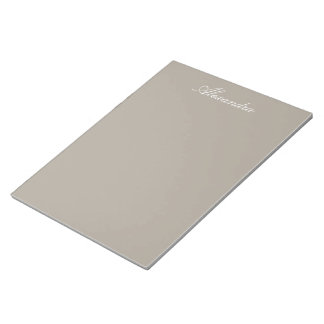 Greige Solid Color Customize It Notepad