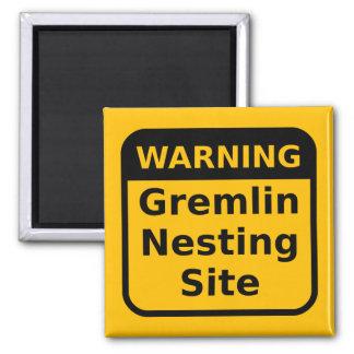 Gremlin Warning Magnet