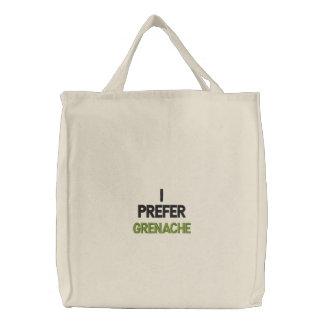 GRENACHE WINE T SHIRT EMBROIDERED BAG