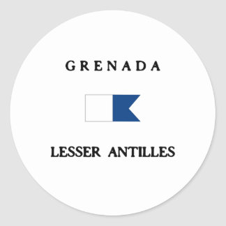 Grenada Alpha Dive Flag Classic Round Sticker