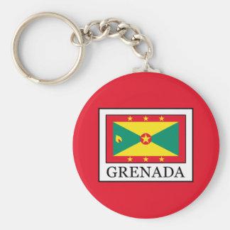 Grenada Basic Round Button Key Ring