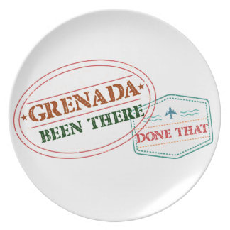Grenada Been There Done That Plate