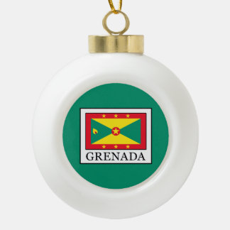 Grenada Ceramic Ball Christmas Ornament