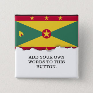 Grenada Flag 15 Cm Square Badge