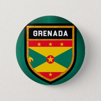 Grenada Flag 6 Cm Round Badge