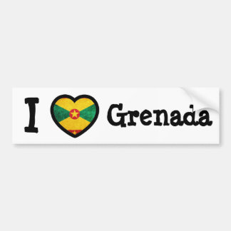 Grenada Flag Bumper Sticker