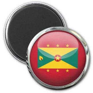 Grenada Flag Glass Ball Magnet