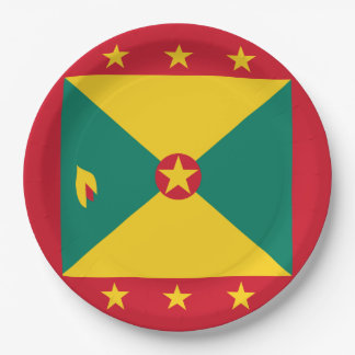 Grenada Flag Paper Plate