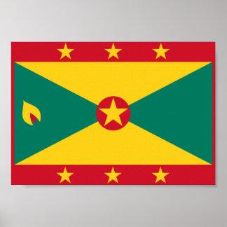 Grenada Flag Poster
