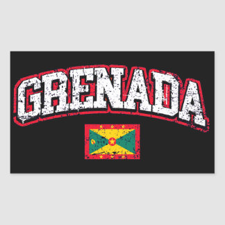 Grenada Flag Rectangular Sticker