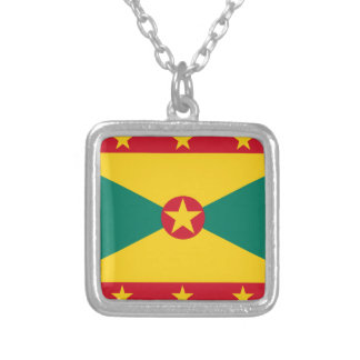 Grenada Flag Silver Plated Necklace