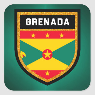 Grenada Flag Square Sticker
