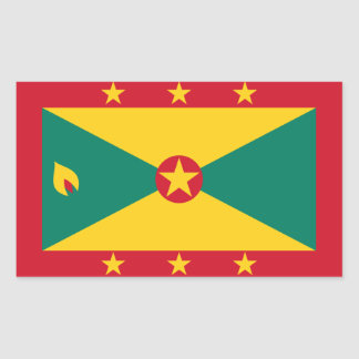 Grenada/Grenadan/Grenadian Flag Rectangular Sticker