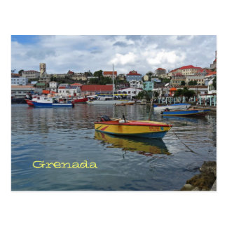 Grenada Harbor Photo Postcard